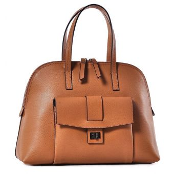 Elegancka torebka damska brązowa kuferek