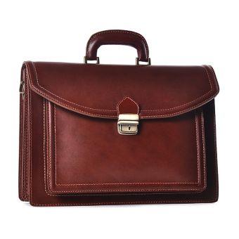 Skórzana torba męska brązowa na laptopa
