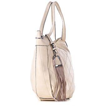 beżowa torebka na ramię