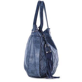 elegancka torebka worek z frędzlami
