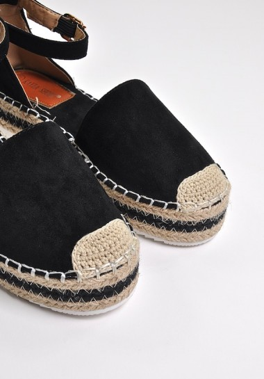 Espadryle z paskiem Black Coffee