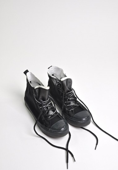 Czarne trampki za kostkę z siatki