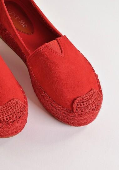 Czerwone espadryle damskie klasyczne
