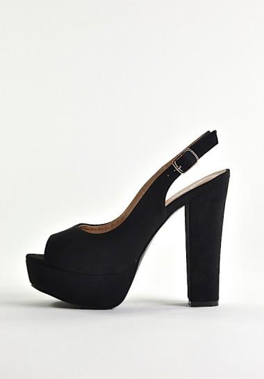 Sandały damskie na wysokim obcasie czarne