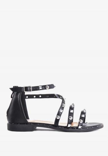Płaskie sandałki damskie czarne