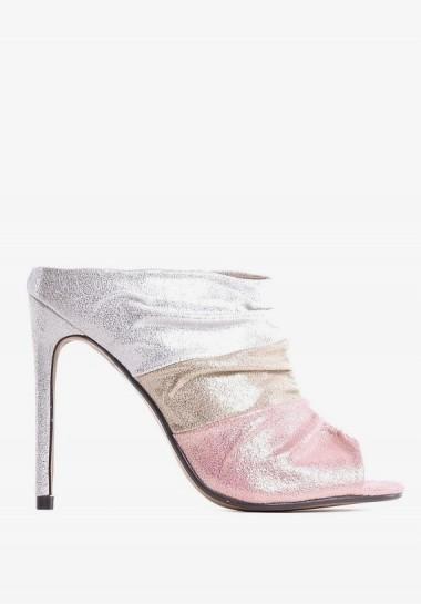 Złote szpilki damskie eleganckie buty wieczorowe