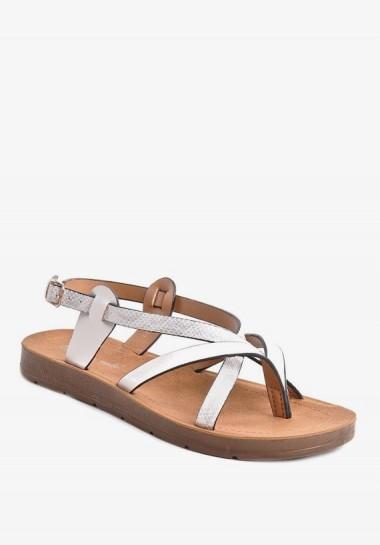 Białe sandałki damskie płaskie