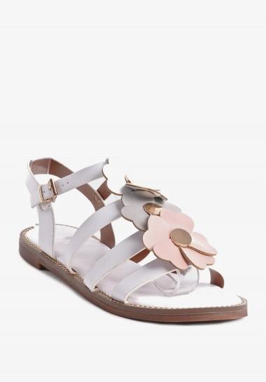 Sandałki damskie białe