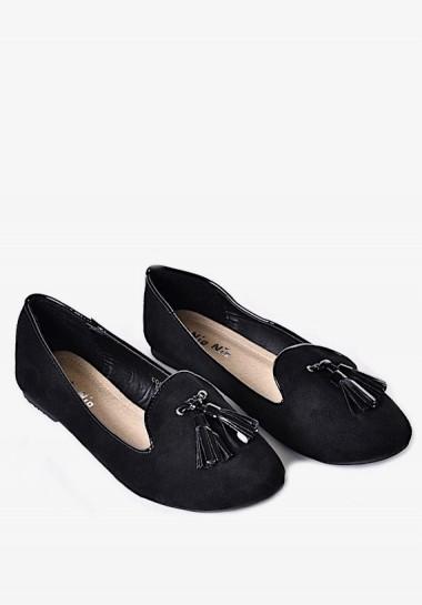 Czarne mokasyny damskie
