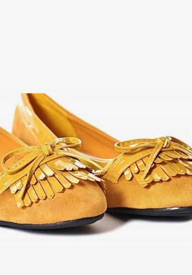 Żółte buty damskie