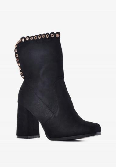 Klasyczne botki damskie czarne