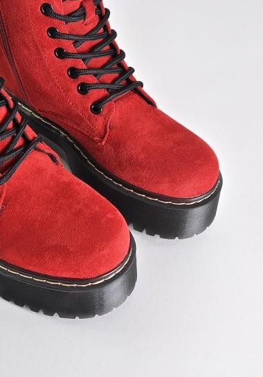 Czerwone glany damskie