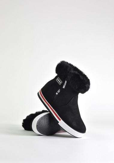 Czarne buty na zimę damskie