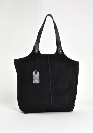 Czarna klasyczna torebka damska ze skóry