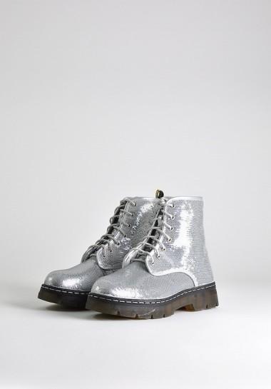 Srebrne buty damskie