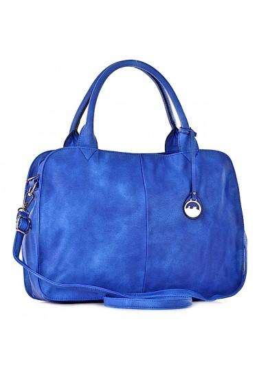 Niebieska torebka damska na lato stylowa