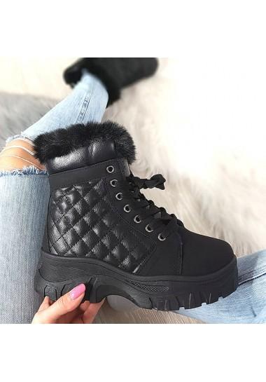 Pikowane czarne adidasy